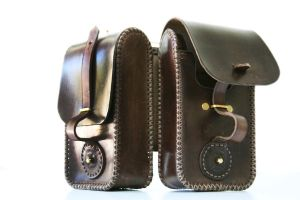 Steampunk leather twin pouch 4 by AmbassadorMann