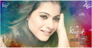 Smiling Kajol by scarletartista