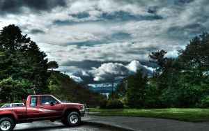 Truck and Clouds by swanathon