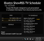 Illustro ShowRSS TV Schedule Skin by xd3rek