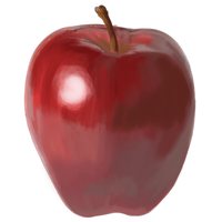 Apple speed painting by S-Daniels