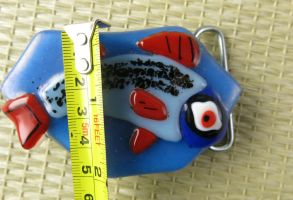 Fish Beltbuckle made by Rosie by trilobiteglassworks