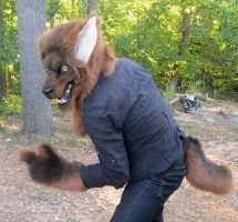 wolf man costume full view by Anarchpeace