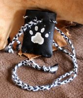 Pawprint pouch by lupagreenwolf