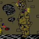 FNaF New character: Tex and Goldy by YaoiLover113