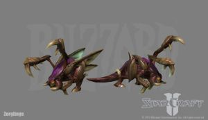 Starcraft 2: Zerglings by PhillGonzo