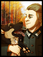 1942 - His dog by BlueHunter