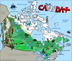 Map Of Canada by FreyFox
