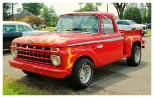 Flamin' Red Ford Truck by TheMan268