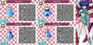 Animal Crossing QR Code Mew Mint by SuperAngel502