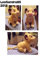 Medium Simba Plushie by LeoSandra85