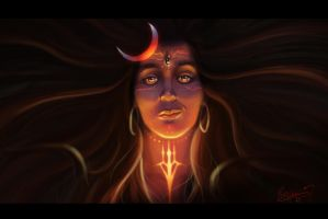THE THRRE EYED GOD (LORD RUDRA SHIVA) by sixsage