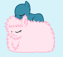 Fluffle Snooze by BatmanBrony
