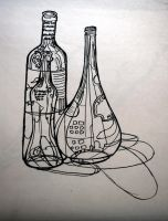 DRAWING I contour still life by numberoneblind