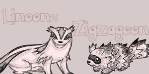 Linoone and Zigzagoon by immortal-spud-thief