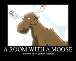 room with a moose by deathchaosgreymon