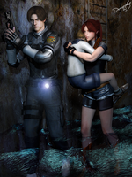 #Leon x Claire - Heroes by DemonLeon3D