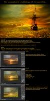 Sunflowers Sea Tutorial by annewipf