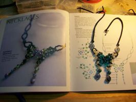 Beaded Butterfly Necklace by DOC-Ash1391