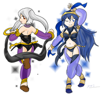 Lucina and Robyn: Dancers ~Request~ by Xero-J