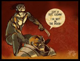 Wolverine VS Apocalypse by burningflag