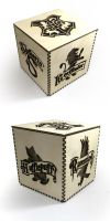 Hogwarts House Crests cutout 4-inch box by Athey
