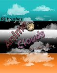 Photoshop- Cloud Brushes for Anime/Manga by Aikensha