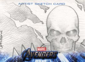 Avengers Assemble Sketchcard - Ghost Rider by theopticnerve