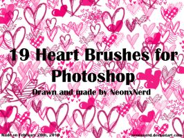 PS Brushes Set 1 - Hearts by NeonxNerd