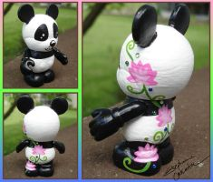 Vinylmation 3'' Lotus Panda Custom by StephanieCassataArt