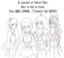 In memory of Monty Oum. May he rest in peace by TheBlackNeko