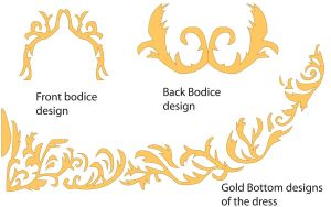 Princess Peach Gold Trim Design by GothLoliChanKaru