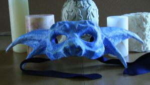 Blue Dragon Mask by nondecaf