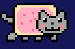 Nyan-cat. by raiinbowHyperdrive
