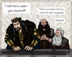The Hobbit Doodle: Just Teasing by wolfanita