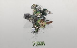 Link's Evolution - Wallpaper by mushir