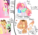 MLP Next generation: RAINBOWS AND APPLES by karsisMF97