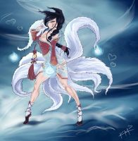 League of Legends -  Ahri by kapiheartlilly