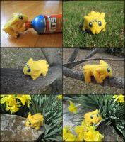 Posable Needle Felted Joltik by SnowFox102