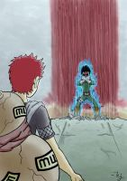 Gaara vs Rock Lee by ArtOfTej