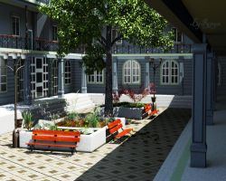 Patio Interior by The-Ronyn