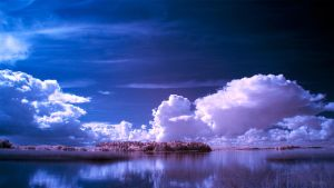 Clouds over lake IR by puu4ux