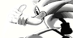 Some Sonic Drawing. ._. by Sonjamsn40