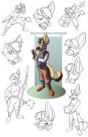 Cid model sheet by CoyoteEsquire