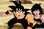 young bardock and gine by salvamakoto