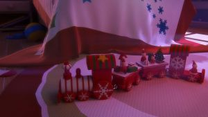 Free 3d model Wooden christmas train by pixelbudah