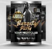 Gangsta Party Flyer Template by quickandeasy1