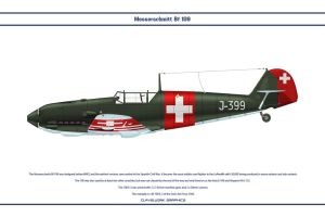 Bf 109 E-3 Switzerland 2 by WS-Clave
