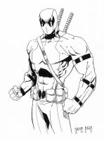 Deadpool Sketch by BearClawStudios