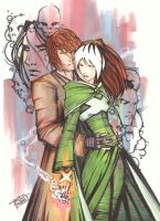 marker : Rogue and Gambit by KidNotorious
